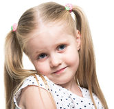 Little girl close up portrait Royalty Free Stock Photo