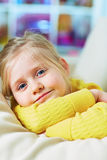 Little girl close up portrait. Stock Photo