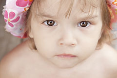 Little Girl Close Up Royalty Free Stock Images