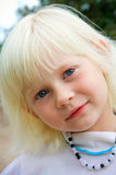 Little girl closeup Stock Photography