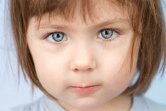 Little girl closeup Royalty Free Stock Photography