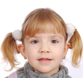 Little girl closeup portrait Royalty Free Stock Photos