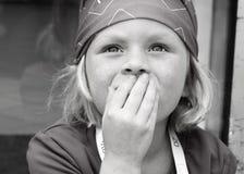 Little Girl Closeup. Portrait of a little girl surprised Stock Image