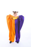 Little girl in clown costume Royalty Free Stock Photography