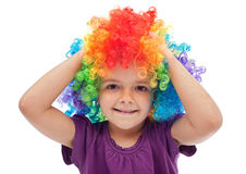 Little girl with clown hair - portrait Royalty Free Stock Photos