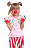 Little girl with clown nose Stock Photos