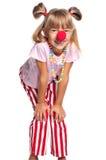 Little girl with clown nose Stock Photos