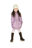 Little girl in a coat Royalty Free Stock Image