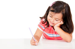 Little girl coloring Royalty Free Stock Photo
