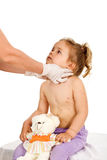 Little girl with contagious disease at the doctors Stock Photography