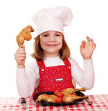 Little girl cook Stock Photography