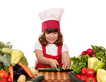 Free Little Girl Cook Royalty Free Stock Photo - 37926525