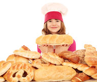 Little girl cook Royalty Free Stock Image