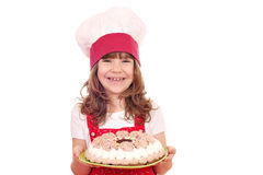 Little girl cook with cake Stock Image