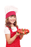Little girl cook with spaghetti Stock Photography