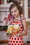 Little girl cooking Royalty Free Stock Photography