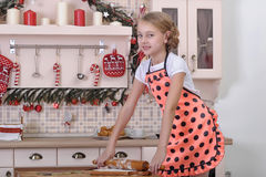 Little girl cooking Royalty Free Stock Photo