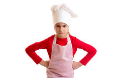Little girl cooking Royalty Free Stock Images