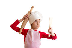 Little girl cooking Royalty Free Stock Photos