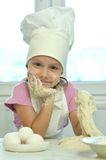 Little girl cooking Stock Photo