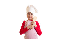 Little girl cooking Royalty Free Stock Image