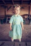 Little girl with coronet Stock Image