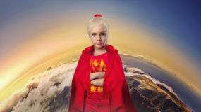 Little girl in costume Stock Photo