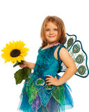 Little girl in costume of peacock Stock Photography