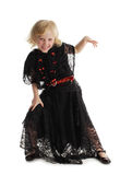 Little girl in costume of a witch Royalty Free Stock Photo