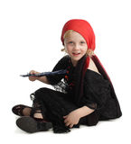 Little girl in costume of a witch Stock Photo