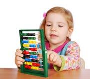 Little girl count Stock Photos