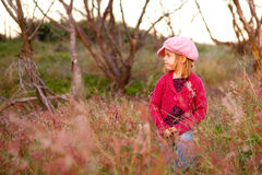 Little Girl in a Country Field Stock Photography