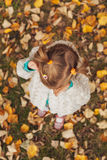Little girl covered her face with hands and crying Royalty Free Stock Photo