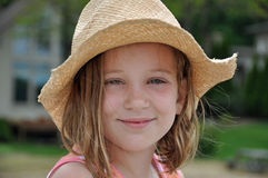 Little girl in a cowboy hat Stock Photos