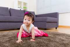 Little girl crawling Royalty Free Stock Photos