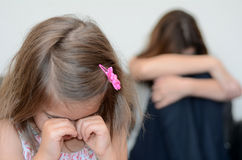 Little girl cring Royalty Free Stock Photography
