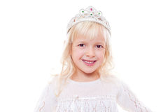 Little girl with crown on her head Stock Images