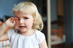 Little girl crying Royalty Free Stock Images