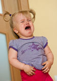Little girl crying Stock Photos