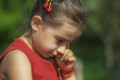Little girl crying Stock Image