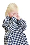 Little girl crying bitterly Stock Image