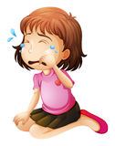 A little girl crying Stock Photo