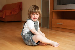 Little girl crying Stock Photo