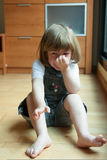 Little girl crying Royalty Free Stock Image