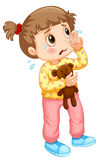 Little girl crying with tears Royalty Free Stock Image