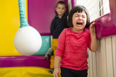 Little girl crying stock photography
