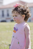 Little girl with curly hair Royalty Free Stock Photos