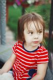 Little girl with cute look. royalty free stock images