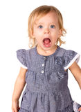 Little girl. Cute little girl making funny expression royalty free stock photo