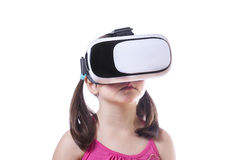 Little girl with 3d glasses Stock Images